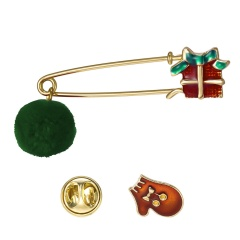 2 Pcs/Set  New Christmas Serices Brooch Set Jewelry Wholesale D