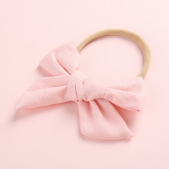 Simple Pure Color Handmade Girl's Cute Hair Rope Wholesale Leather pink