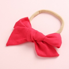Simple Pure Color Handmade Girl's Cute Hair Rope Wholesale Red
