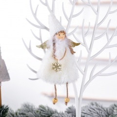 Love Plush Angel Pendant Christmas Tree Decoration White