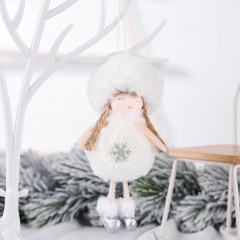 Plush Angel Christmas Decoration Pendant Christmas Tree Decoration White-Snow