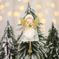 Lace Angel Christmas Pendant Christmas Tree Decoration Gold-Snow