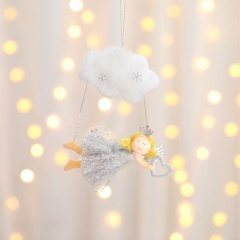 Cloud Angel Doll Christmas Tree Decoration Wholesale Gray-heart