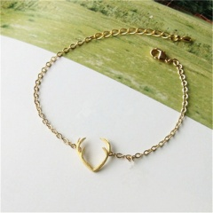 Gold Silver Elk Chain Bracelet Christmas Jewelry Wholesale Gold