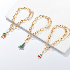 3 Pieces/Set Gold Chain Christmas Bracelet Set Wholesale Pearl