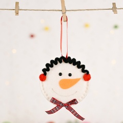 Christmas Red Flannel Bow Snowman Pendant Christmas Ornament Snowman