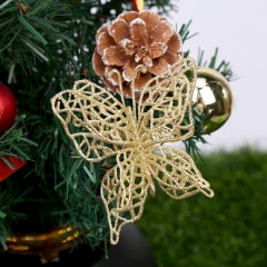 Simulation Multilayer Butterfly Christmas Tree Decoration Gold