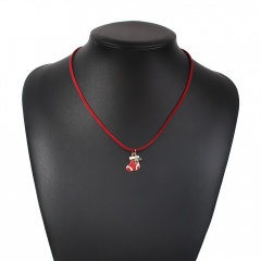 Red Rope Christmas Series Pendant Necklace Wholesale Sock