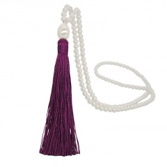 Fashion Long Pearl Tassel Sweater Necklace Jewelry Wholesale Purple