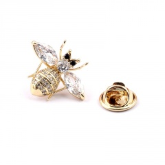 Fashion Gold Rhinestone Shinning Small Bee Pins Brooch A