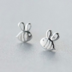 Gold CZ Stone Small Bee Flower Pins Brooches Jewelry B