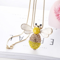 Fashion Luxury Bee Long Chain Necklace Jewelry Gold