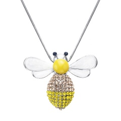 Fashion Luxury Bee Long Chain Necklace Jewelry Silver