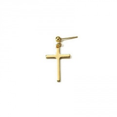 1 Piece Simple Cross Earrings Wholesale Gold