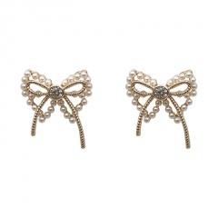 Gold Butterfly Series Stone Stud Earring Wholesale style 4