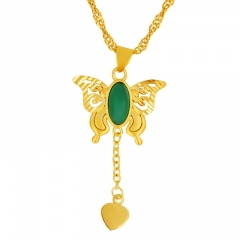 Fashion Gold Butterfly Chain Necklace Jewelry Wholesale style 1