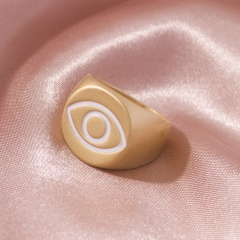 Fashion Dripping Eye Rings Wholesale gold-white