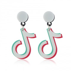 vibrato symbol musical note stud earrings musical