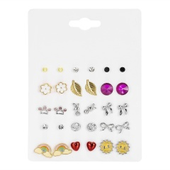 15 Pairs/card Gold Small Stud Earrings Wholesale style 1