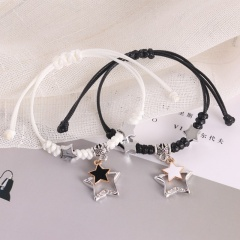 2 Pieces/Set Couple Rope Adjustable Bracelets Wholesale style 1