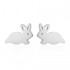 Fashion Stainless Steel Simple Stud Earring Wholesale silver