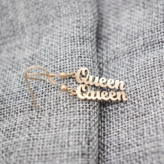 Stainless Steel Queen Dangle Women's Earring Wholesale rose gold