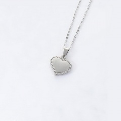Heart Stainless Steel Pendant Chain Necklace Jewelry Wholesale #2