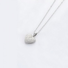 Heart Stainless Steel Pendant Chain Necklace Jewelry Wholesale #1
