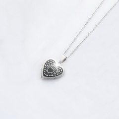 Heart Stainless Steel Pendant Chain Necklace Jewelry Wholesale #3