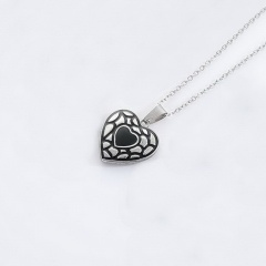 Heart Stainless Steel Pendant Chain Necklace Jewelry Wholesale #5