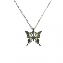 Luminous Butterfly Stainless Steel Chain Necklace butterfly