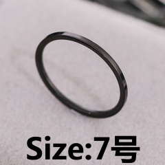 Simple thin stainless steel ring #7 black