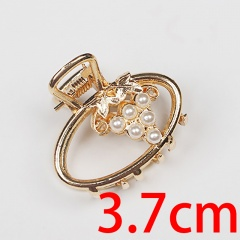 Fashion pearl hairpin gripping clip for back of head (size 4cm) opp oval