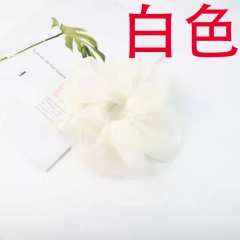 Pure Color Mesh Large Intestine Hair Tie Hair Accessories white
