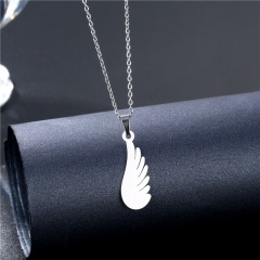 Stainless steel love couple clavicle necklace (chain length 45+5cm) H